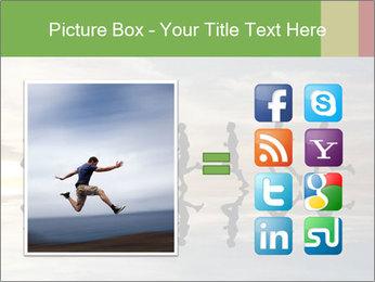 Silhouette of runner PowerPoint Template - Slide 21