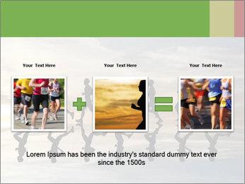 Silhouette of runner PowerPoint Template - Slide 22