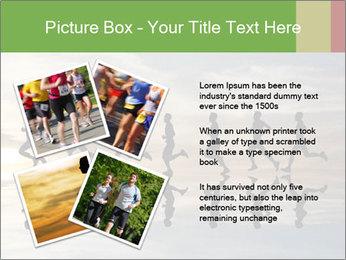 Silhouette of runner PowerPoint Template - Slide 23