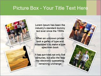 Silhouette of runner PowerPoint Template - Slide 24