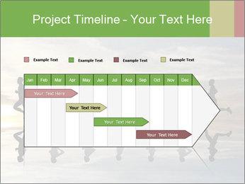 Silhouette of runner PowerPoint Template - Slide 25