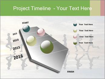 Silhouette of runner PowerPoint Template - Slide 26