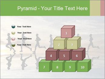 Silhouette of runner PowerPoint Template - Slide 31