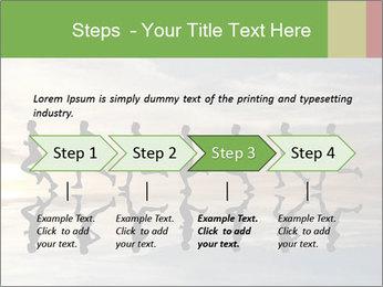 Silhouette of runner PowerPoint Template - Slide 4