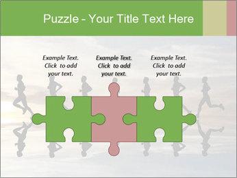 Silhouette of runner PowerPoint Template - Slide 42
