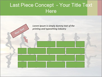 Silhouette of runner PowerPoint Template - Slide 46