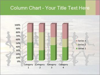 Silhouette of runner PowerPoint Template - Slide 50