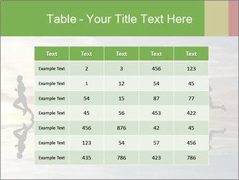 Silhouette of runner PowerPoint Template - Slide 55