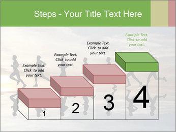 Silhouette of runner PowerPoint Template - Slide 64