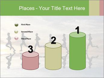 Silhouette of runner PowerPoint Template - Slide 65