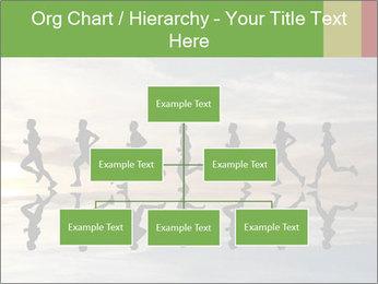 Silhouette of runner PowerPoint Template - Slide 66