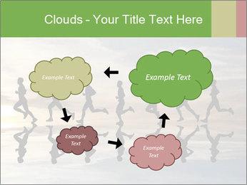 Silhouette of runner PowerPoint Template - Slide 72