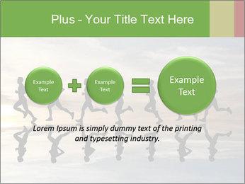 Silhouette of runner PowerPoint Template - Slide 75
