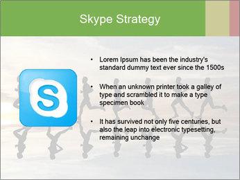 Silhouette of runner PowerPoint Template - Slide 8