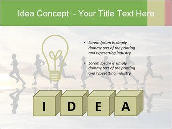 Silhouette of runner PowerPoint Template - Slide 80
