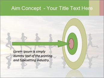 Silhouette of runner PowerPoint Template - Slide 83