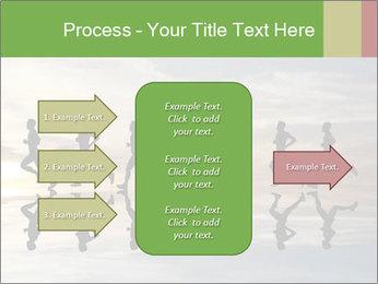Silhouette of runner PowerPoint Template - Slide 85