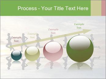 Silhouette of runner PowerPoint Template - Slide 87