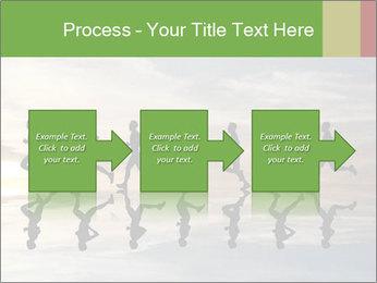 Silhouette of runner PowerPoint Template - Slide 88