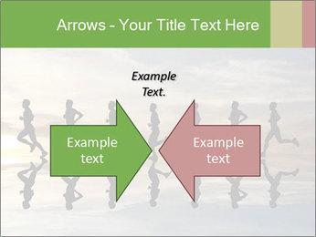 Silhouette of runner PowerPoint Template - Slide 90
