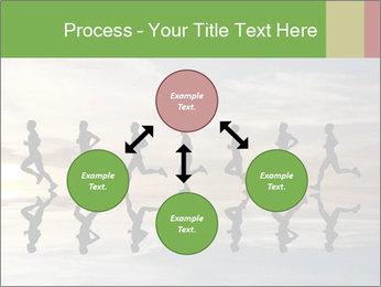 Silhouette of runner PowerPoint Template - Slide 91