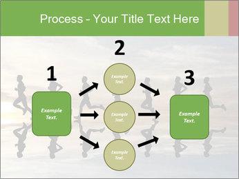 Silhouette of runner PowerPoint Template - Slide 92