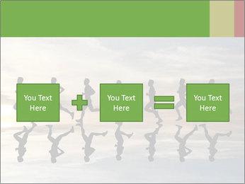 Silhouette of runner PowerPoint Template - Slide 95