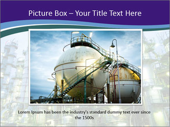 Petrochemical plant PowerPoint Template - Slide 16