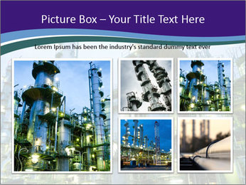 Petrochemical plant PowerPoint Template - Slide 19