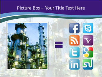 Petrochemical plant PowerPoint Template - Slide 21
