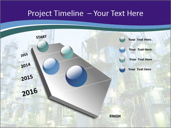 Petrochemical plant PowerPoint Template - Slide 26