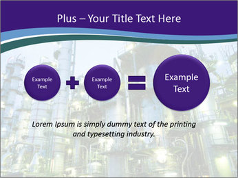 Petrochemical plant PowerPoint Template - Slide 75