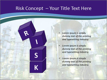 Petrochemical plant PowerPoint Template - Slide 81