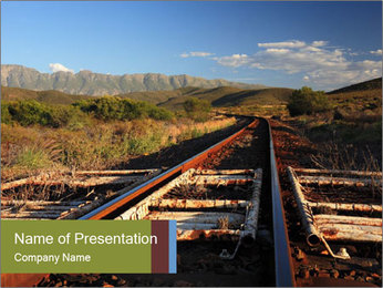 Old railroad PowerPoint Templates - Slide 1