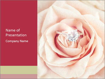 Wedding pink rose PowerPoint Templates - Slide 1