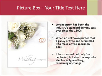 Wedding pink rose PowerPoint Templates - Slide 13