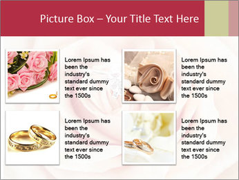 Wedding pink rose PowerPoint Templates - Slide 14
