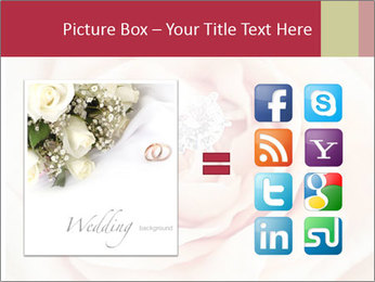 Wedding pink rose PowerPoint Templates - Slide 21