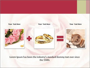 Wedding pink rose PowerPoint Templates - Slide 22