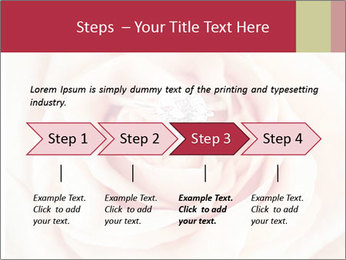 Wedding pink rose PowerPoint Template - Slide 4