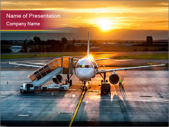 Airplane PowerPoint Template - Slide 1