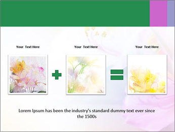 Flowers with color filters PowerPoint Templates - Slide 22