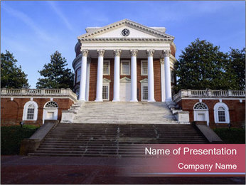 University of Virginia PowerPoint Templates - Slide 1