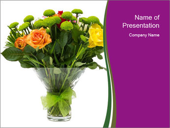 Bouquet flowers PowerPoint Templates - Slide 1