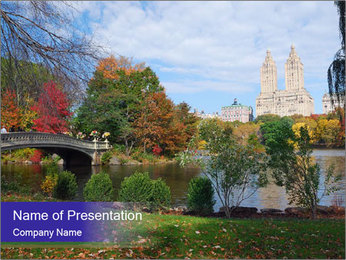 Central Park PowerPoint Template - Slide 1