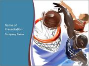 Dunk shot PowerPoint Templates