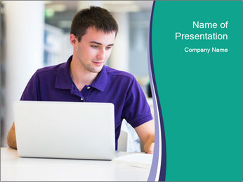 Handsome college student PowerPoint Templates - Slide 1