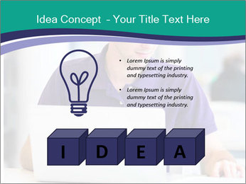 Handsome college student PowerPoint Templates - Slide 80