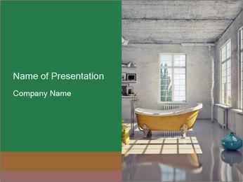 Loft interior PowerPoint Template - Slide 1