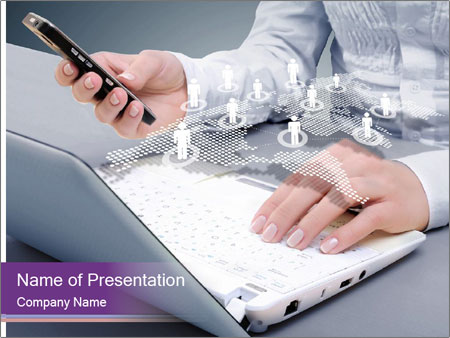 Computer keyboard PowerPoint Templates